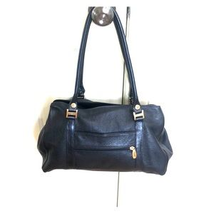 Valentina Black Pebbled Leather Bag